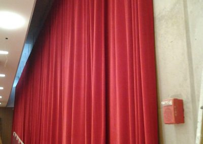 Custom Stage Drapery, Asymmetrical Installation
